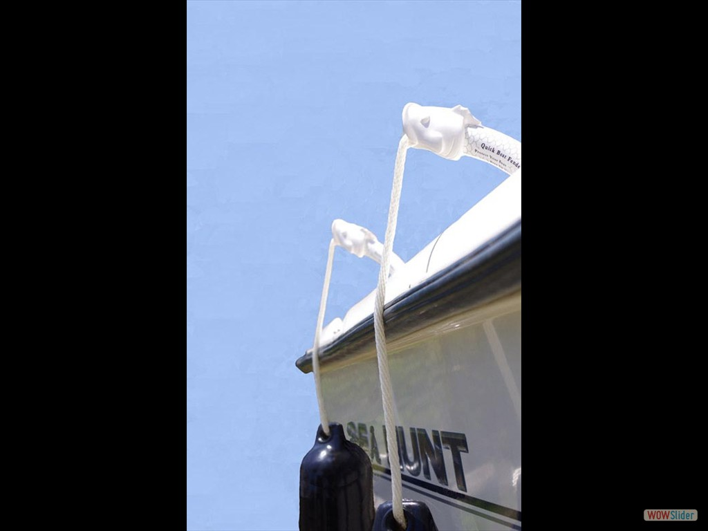 Quick Boat Fender on a Sea Hunt Boat_500